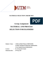Material and Process Selection for Hammer