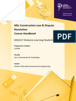 Construction Law and Dispute Resolution MSc CLAWD