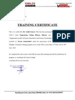 Karan Automobiles Certificate2
