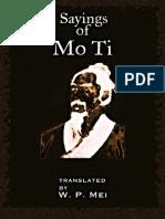 Mozi, Works (Inglés)