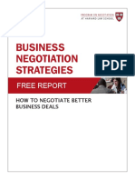 Business Negotiations Free Report