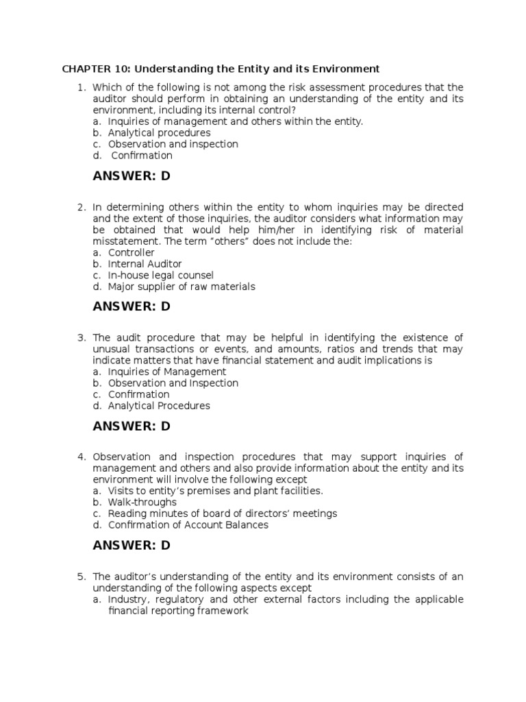 Chapter 10- MCQ with Answer docx   Financial Audit   Audit