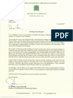 Greg Hands letter to Jon Ashworth on Charing Cross