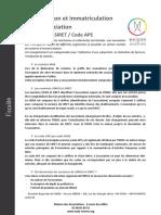 Identification Et Immatriculation d'une Association