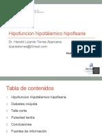 Sem 2 Clase 4 USMP 2017 Hipofuncion Hipotalamo Hipofisiaria