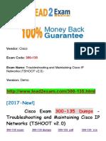 New Lead2exam Cisco 300-135 Dumps PDF -  Troubleshooting and Maintaining Cisco IP Networks (TSHOOT v2.0)