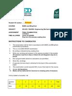 Solved NZDE and BEngTech Mechanical Semester 1 2014-1