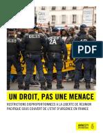 Un droit, pas une menace - Rapport d'Amnesty France