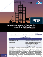 International Journal of Constructive Research in Civil Engineering -ARC Journals