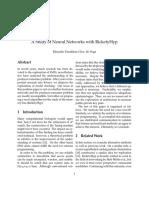 A Study of Neural Networks With RicketyHyp - Eduardo Paradinas Glez. de Vega