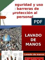 BIOSEGURIDAD y uso de barreras de protección al personal