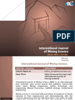 International Journal of Mining Science -ARC Journals