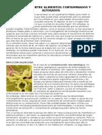 Diferencias Entre Alimentos Contaminados y Alterados