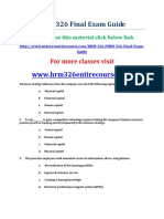 UOP HRM 326 Final Exam Guide