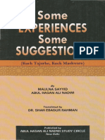 Abul Hasan Ali Nadwi - Some Experience Some Suggestions