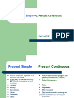 Present Simple vs Present Continuous (1)