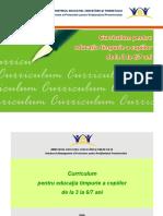 Curriculum Pentru Educaţia Timpurie a Copiilor de La 3 La 6-7 Ani