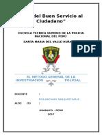El Método General de La Investigación Policial