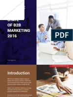 Regaliz State of b2b Marketing 2016