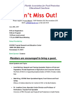 South Florida Association for Food Protection - June 2017 Meeting Poster