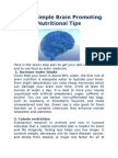 Seven Simple Brain Promoting Nutritional Tips