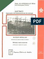 Vol. 11 Operación de Subestaciones de Energía Bloque Modular 1 Módulo 11