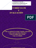 Curriculum y Evaluacion