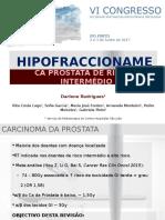 Hipofraccionamento no Carcinoma da Próstata de Risco Intermédio