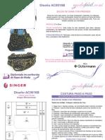 Instrucciones de Costura Bolso Grande Para Dama de 27 x 35cms AC0016b