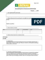 Formulário Pesquisa Anterioridade - Modelo