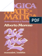 Logica Matematica. Antecedentes - Alberto Moreno