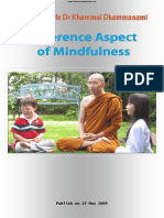 807. Different Aspects of Mindfulness - Oxford Sayadaw Dr. K. Dhammasami