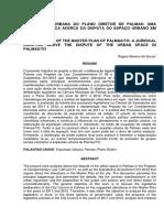 Trabalho Sobre Plano Diretor de Palmas - UFT