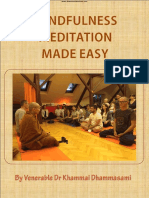 808. Mindfulness Meditation Made Easy - Oxford Sayadaw Dr. K. Dhammasami