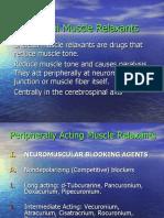 Skeletal Muscle Relaxants