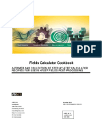 Fields Calculator Cookbook