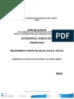 6364195@Bases Licitacion Modelo Centro de Salud Solola