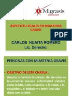 Aspectos Legales MG. CARLOS