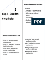 GeoEnviron Topic 07 Sub Surface Contamination