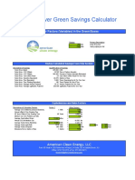 Solar Power Green Savings Calculator