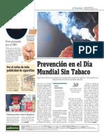 Prevención en El Día Mundial Sin Tabaco