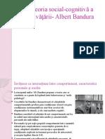 Teoria social-cognitivă a învăţării- Albert Bandura