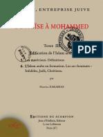 """(Tome 3) """"De Moïse à Mohammed, l'islam entreprise juive"""" par le père Gabriel Théry (Hanna Zakarias)"""