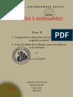 """(Tome 2 ) """"De Moïse à Mohammed, l'islam entreprise juive"""" par le père Gabriel Théry (Hanna Zakarias)"""