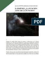 Reynaldo Jiménez- La Función Debe Continuar La Función