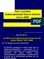 002. Plan Contable Gubernamental 2009