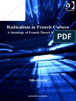 Niilo Kauppi Radicalism in French Culture Public Intellectuals and the Sociology of Knowledge