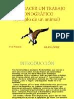 Cómo Hacer Un Trabajo Monográfico (Trabajo Del Animal) - Jm 2013-2014