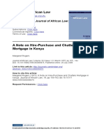 A Note on Hire Purchase and Chattels Mortgage in Kenya (1)