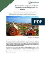 Guía práctica en 11 idiomas para ayudar a estudiantes extranjeros a gestionar sus finanzas en España - HelpMyCash.com